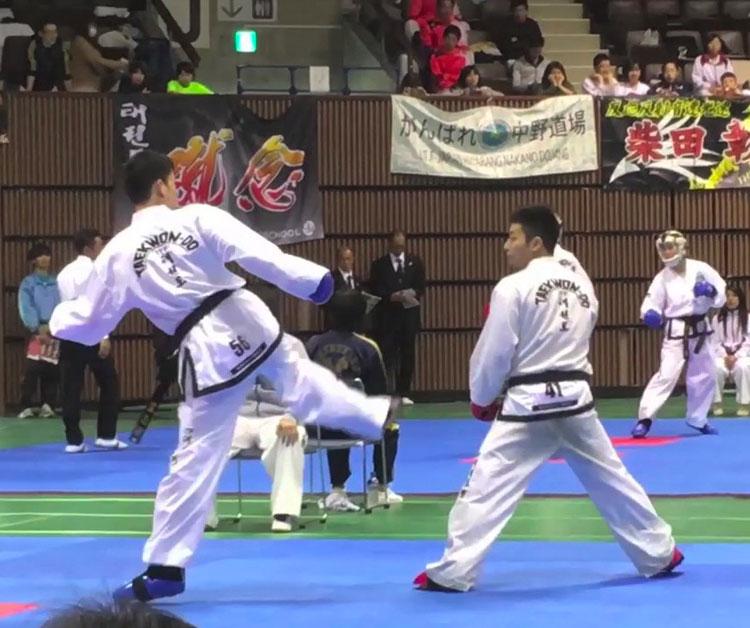 テコンドーの競技 マッソギ(組手)新宿早稲田ハナロテコンドースクール